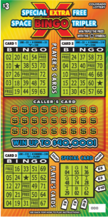 Special Extra Free Space Bingo Tripler