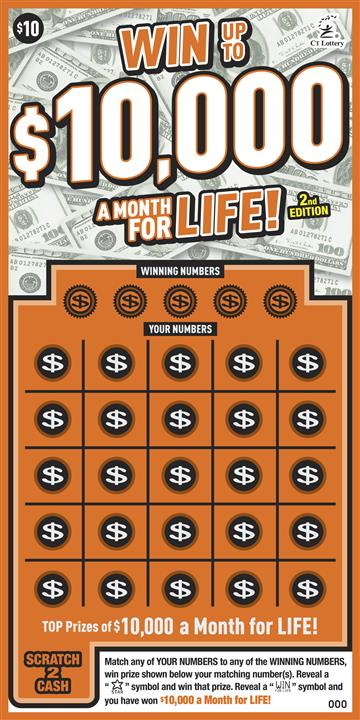 WIN UP TO $10,000 A MONTH FOR LIFE 2nd ED.