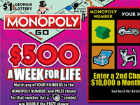 MONOPOLY $500 A WEEK FOR LIFE