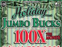 Holiday JUMBO BUCKS 100X THE