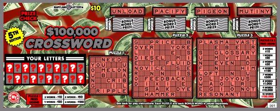 $100,000 Crossword