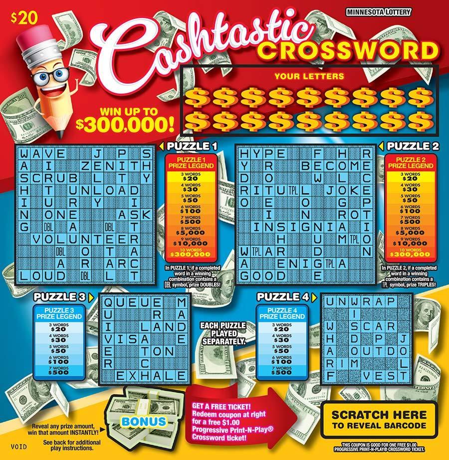 Cashtastic Crossword
