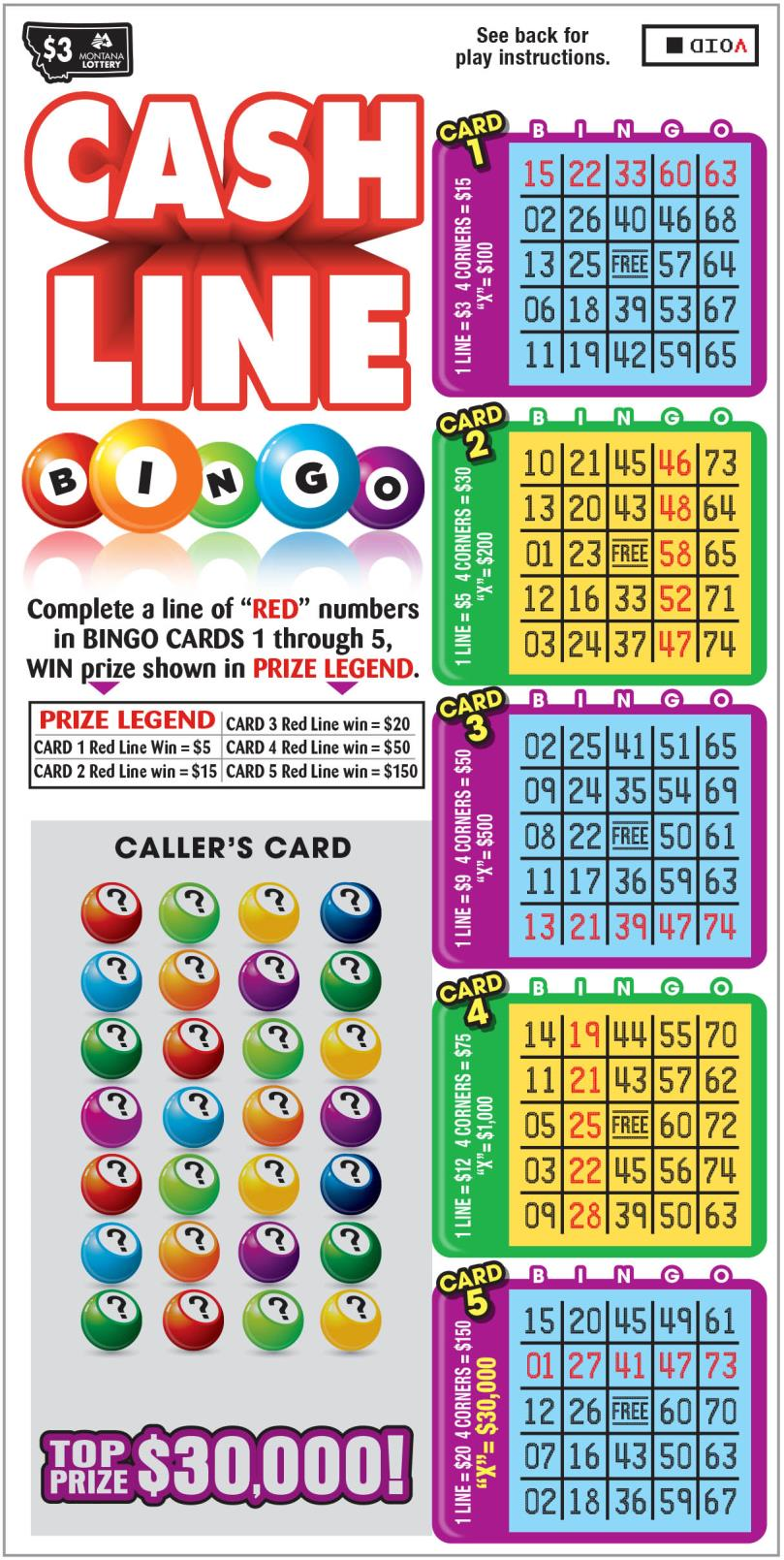 Cash Line Bingo