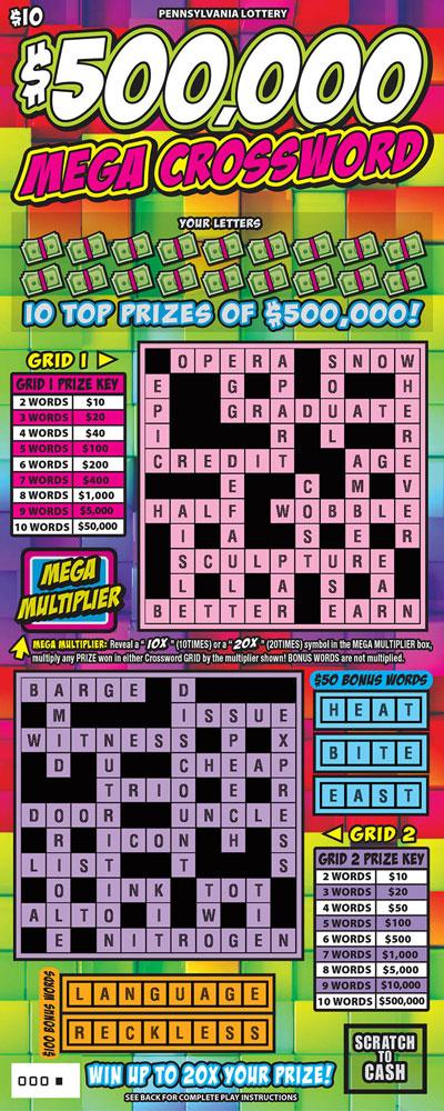$500,000 Mega Crossword*