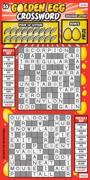 Golden Egg Crossword