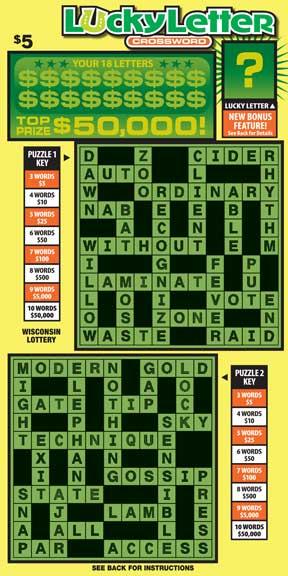 Lucky Letter Crossword