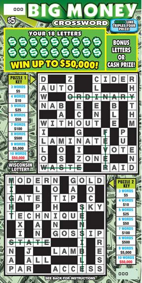 Big Money Crossword