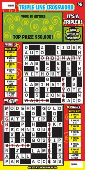 Triple Line Crossword